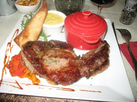 Il Bellagio: Entrecôte - gratin dauphinois