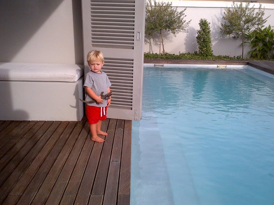 The Robertson Small Hotel: Our little boy on terrace
