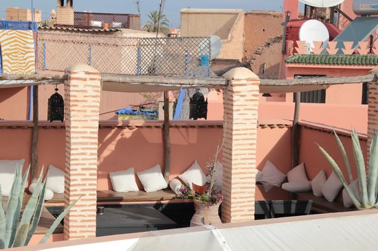 Riad Magellan: Top floor terrace