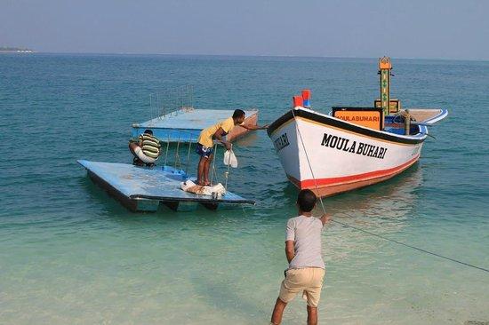 Lakshadweep Homestay Kasim K: The boat that took us to Bangaram island