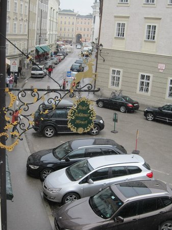 Hotel Goldener Hirsch, a Luxury Collection Hotel, Salzburg: View from room on Herbert-von-Karajan-Platz