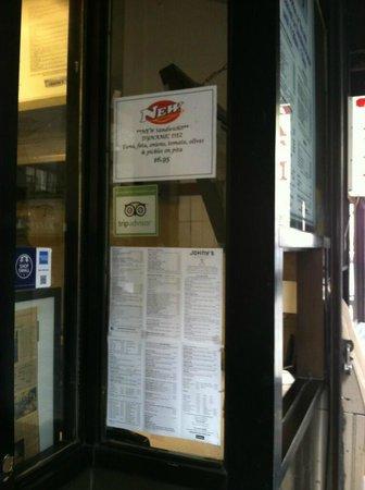 Johny's Luncheonette : door front window