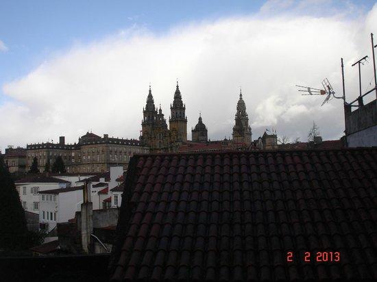 Hostal Alfonso: vista da catedral desde o meu quarto
