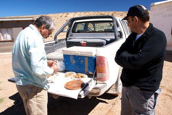 Hosteria De Altura El Penon: Pic-nic durante la excursión con Jorge