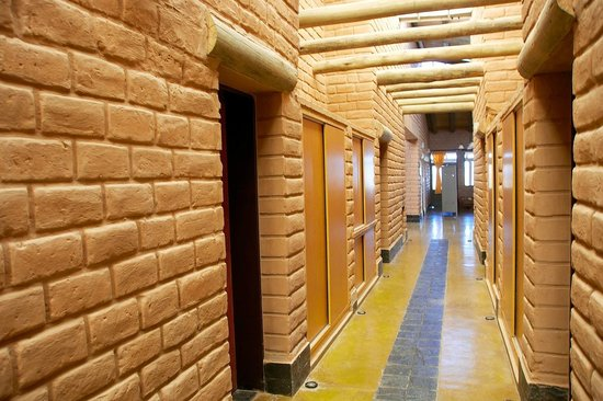 Hosteria De Altura El Penon: Pasillo de las habitaciones