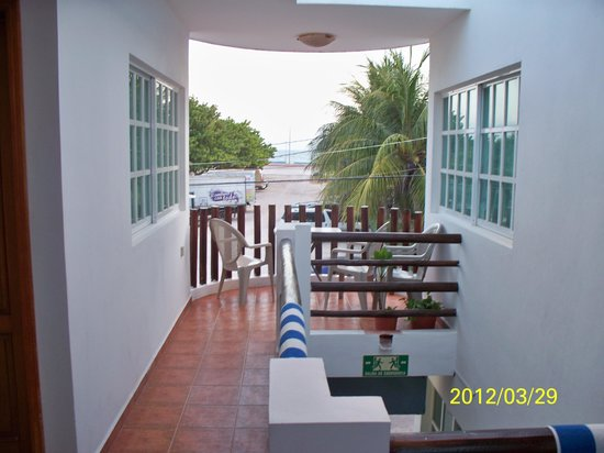 Hotel Xbulu-Ha: A second floor view.