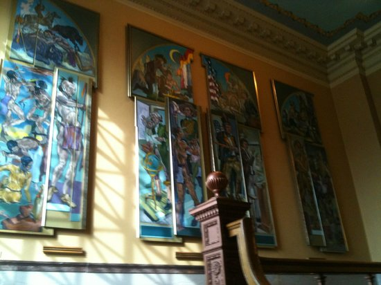 Colorado Springs Pioneers Museum: Pioneer Museum, Stained Glass and Architecture, 2nd Floor