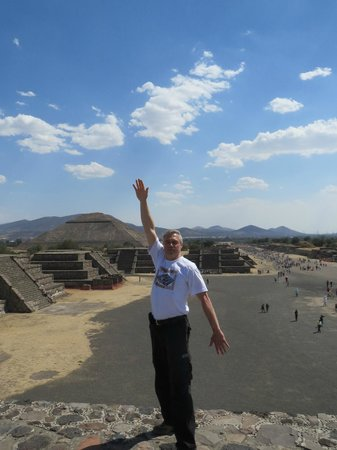 Sheraton Mexico City Maria Isabel Hotel: Me on day trip to Teotihuacan