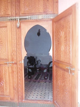 Riad Jnane Agdal: la porte de ma chambre !