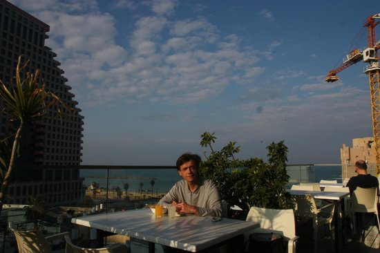 Hotel Gilgal: Завтрак на крыше)
