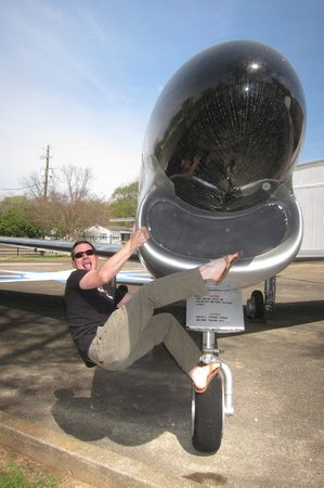 Southern Museum of Flight: Just bouldering on a F-86D Sabre @ SMF