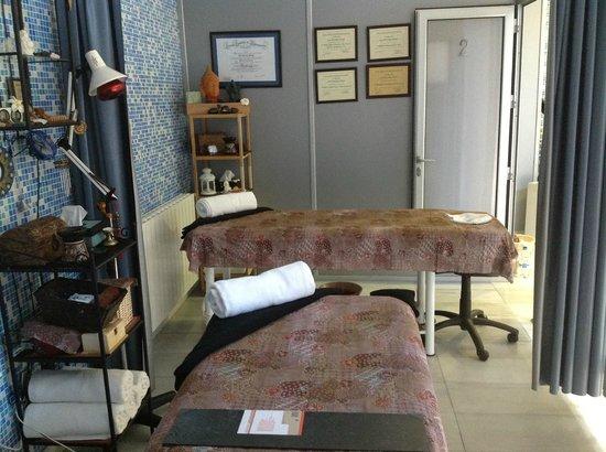Hotel Mies de Rubayo: zona masajes