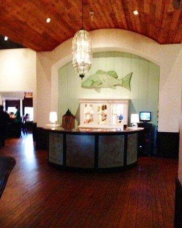 Old Florida Fish House & Bar: Reservation Desk at entrance foyer