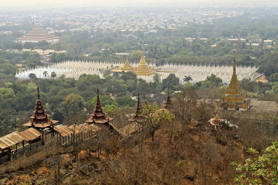 Mandalay, Myanmar: View from top of the hill