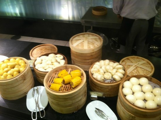 Beijing International Hotel: Breakfast dumplings