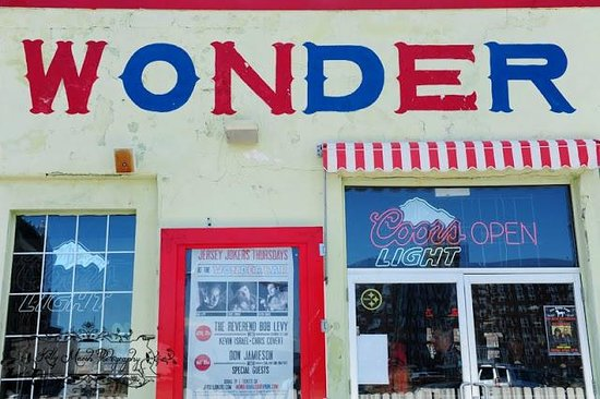 The front of the wonder bar facing the boardwalk