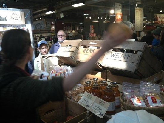 City Food Tours Philadelphia: Virginia, Tour Guide - Tasting dried Asian pears.