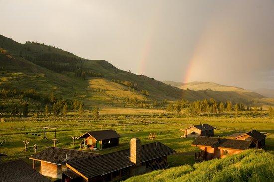 Nine Quarter Circle Ranch: Rainbow over the ranch