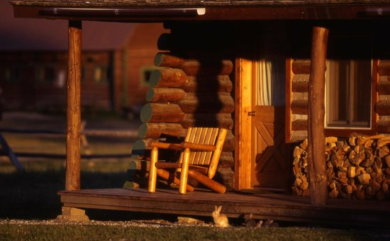 Nine Quarter Circle Ranch: Front porch of a cabin