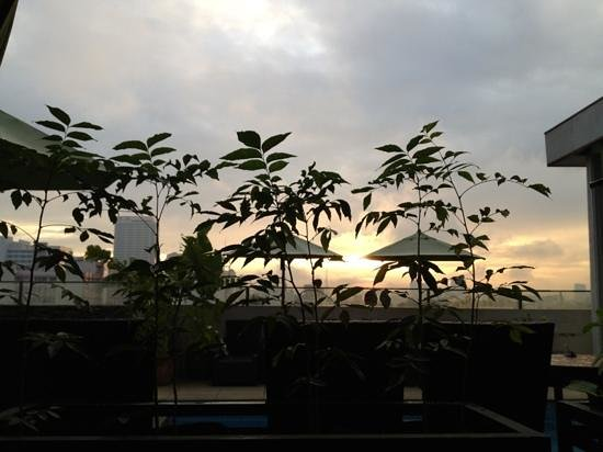 The Cocoon Boutique Hotel: sunrise, roof deck/herb garden