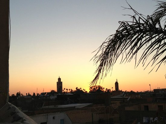 Riad Princesse Jamila: View from the terrace at the top
