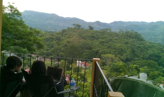 "Casa Dona Elena B & B : us just ""skyping"" from our room's balcony"