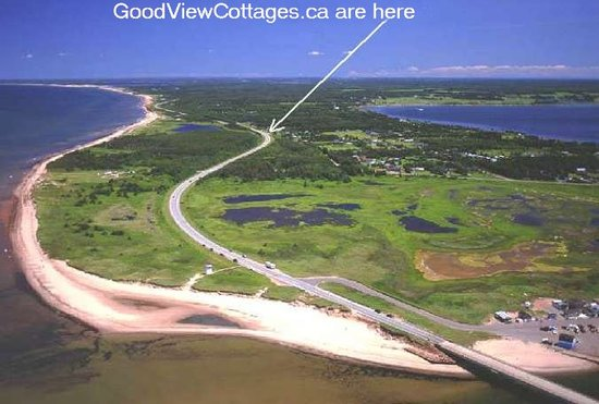 GoodView Cottages: VIEW OF STANHOPE BEACH AND GOODVIEW PEI COTTAGES