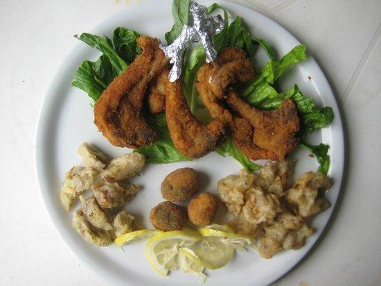 Osteria della Fornace : frittura all' ascolana
