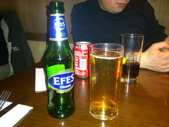 Cyprus Mangal : efes to wash your meal down.