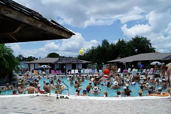 Cypress Cove Nudist Resort: Party at the Pool