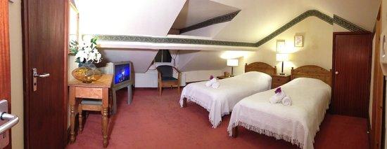 The Garden Hotel & Restaurant: Top floor en-suite room