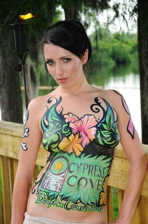 Camp body painting Nudist