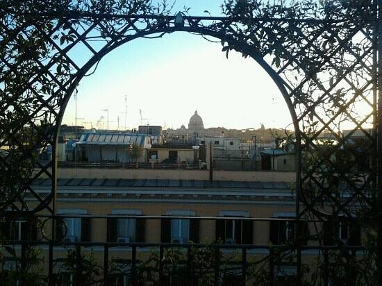โฮเต็ล ไอซ่า: vue de la terrasse lors du petit déjeuner...