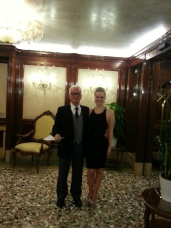 Hotel Savoia & Jolanda: Me and the lovely Luigi in reception