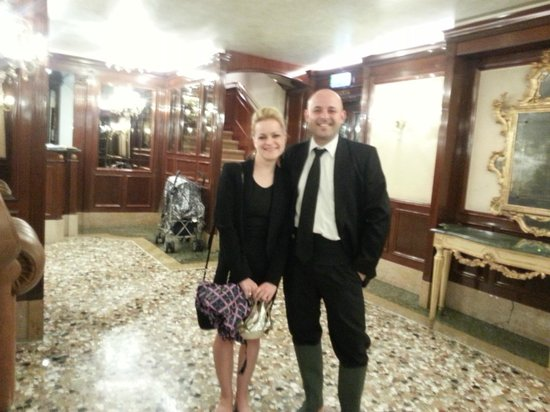 Hotel Savoia & Jolanda: Me and Stefano during the floods one night!