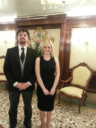 Hotel Savoia & Jolanda: Me and Michael (looking very official!)