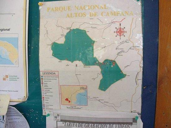 La Joya de Chica Mountain Lodge: Map of nearby Park