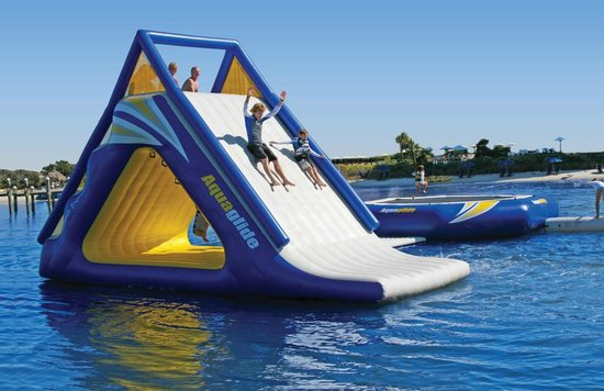 Inflatable Floating Water Park Time Of Your Life Picture Of La Dolce Vita Destin Tripadvisor