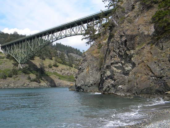 Deception Pass State Park: Vista del puente
