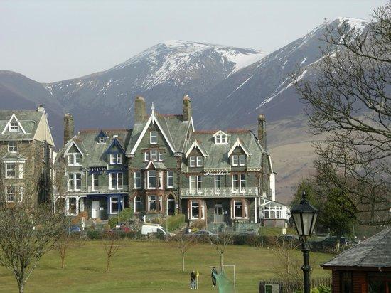 Brundholme Bed and Breakfast: Brundholme on left of blue house