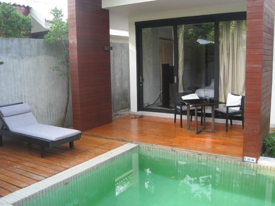 X2 Koh Samui Resort - All Spa Inclusive: Private terrace in Villa 11 with pool