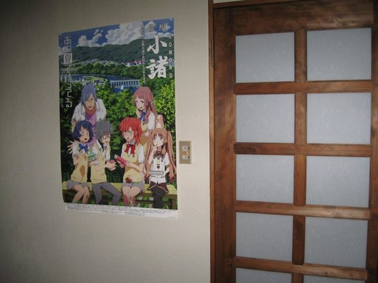 Yamasho Ryokan: Ryokan adorned with pictures from the anime.