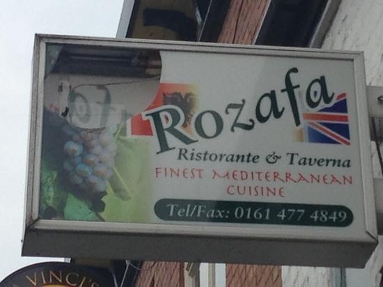 Rozafa Greek Restaurant: the outside of restaurant