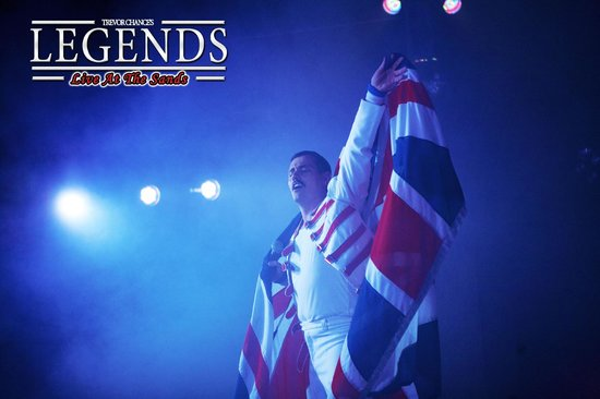 Sands Venue : Freddie takes the stage for the closing act at Legends Blackpool.
