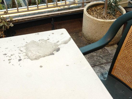 Smiths Hotel: Concrete on the table