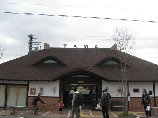 Wakayama, Japan: New Kishi Station - looks like a cat!