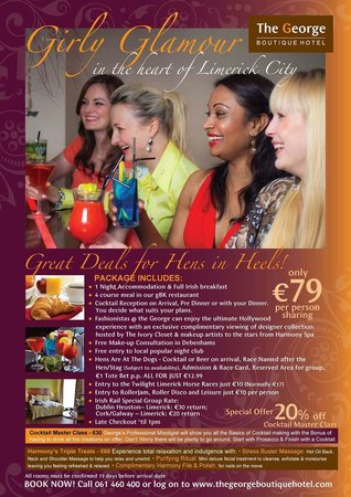 The George Limerick: Hens in Heels in Limerick City at The George Boutique Hotel