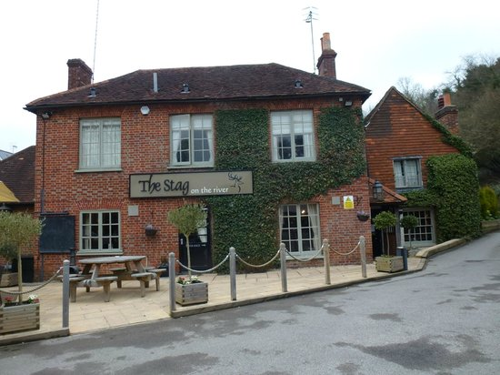 The Stag on the River: The Inn from the Outside