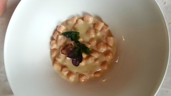 Cappuccini Resort: gnocchi con crema di tartufo