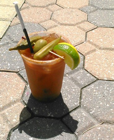 "Marlin Monroe's Surfside Grill: MM's Bloody Mary..a ""10"""